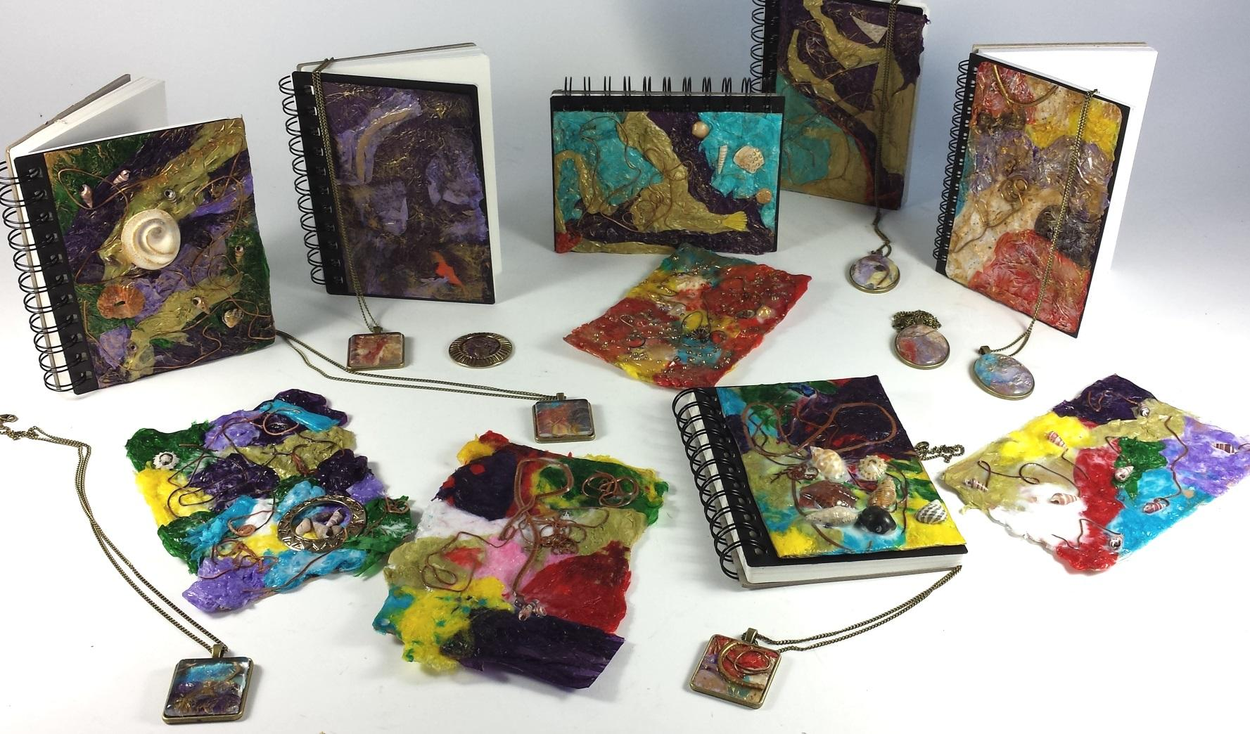Leather & Tissue Paper Books & Jewellery