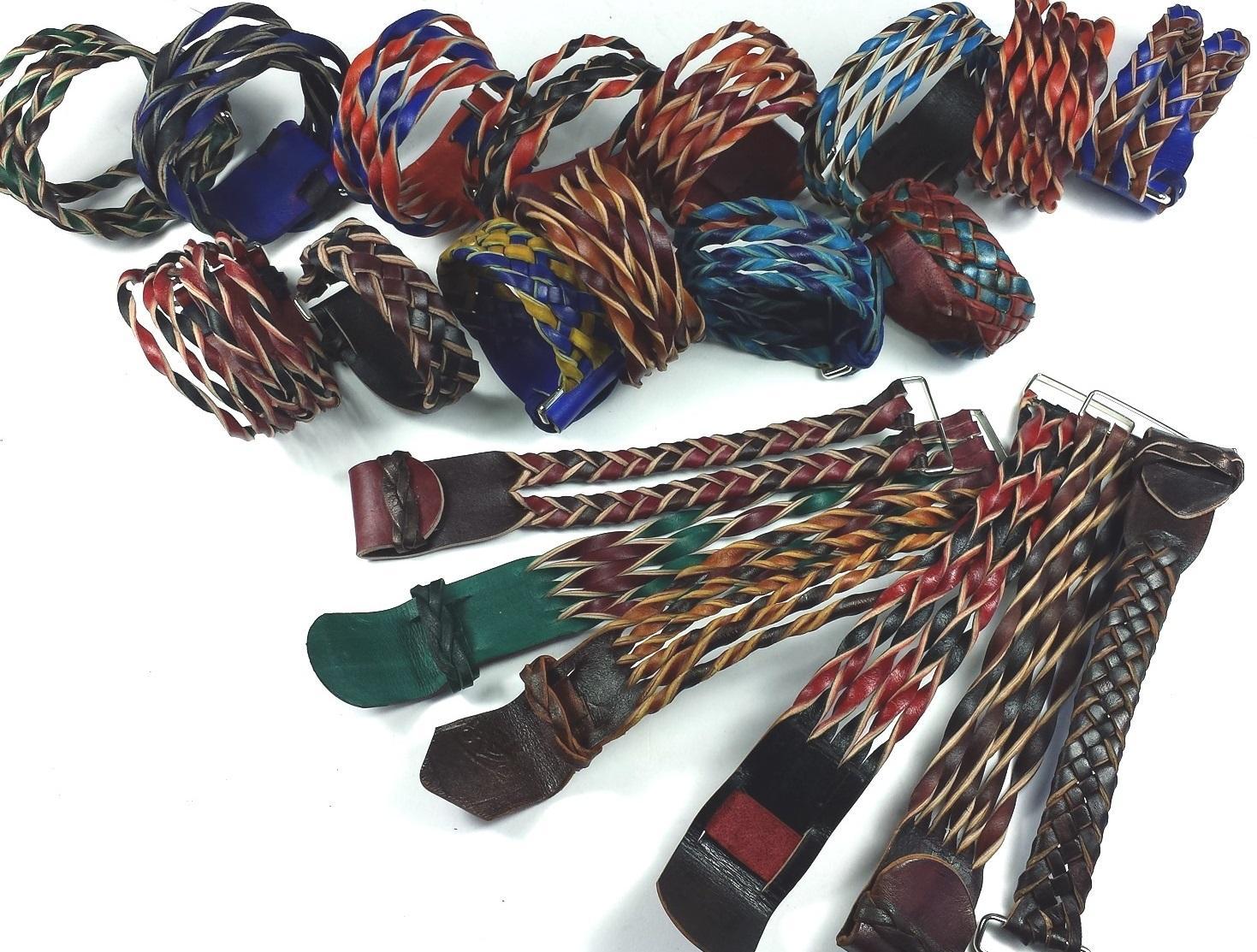 Making Leather Twisted Bracelets