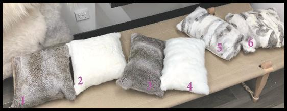 Rabbit fur cushions