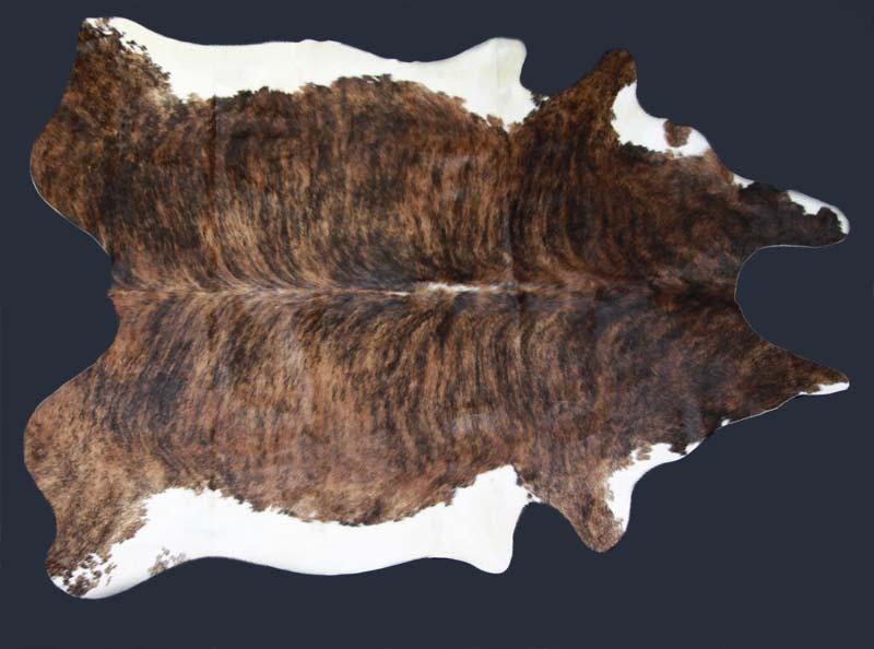 Cowhide hair on ranch rugs