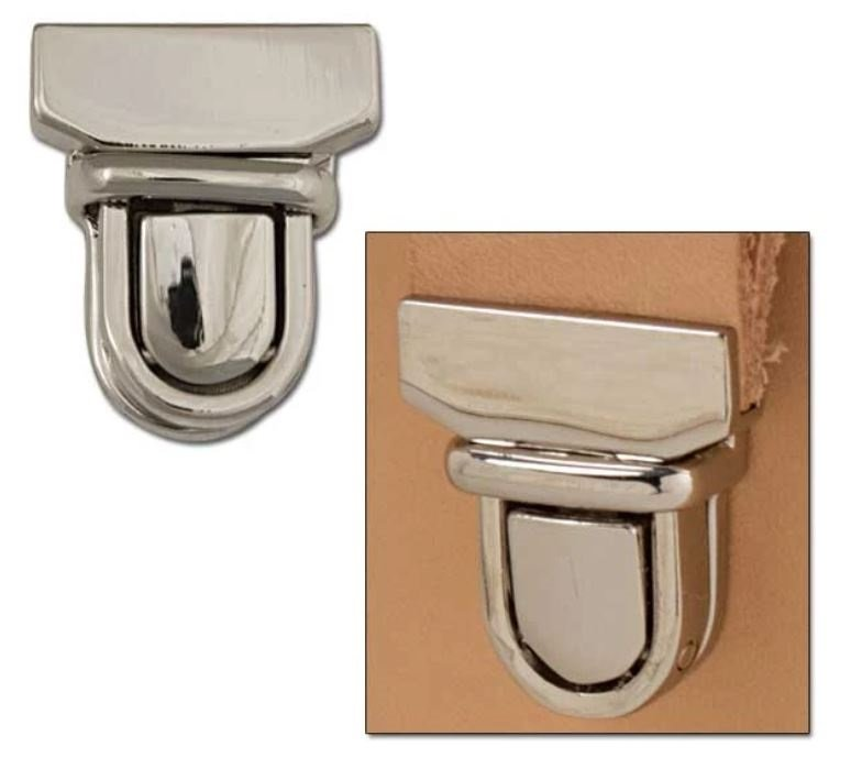 Bag lock 29x33mm Nickle