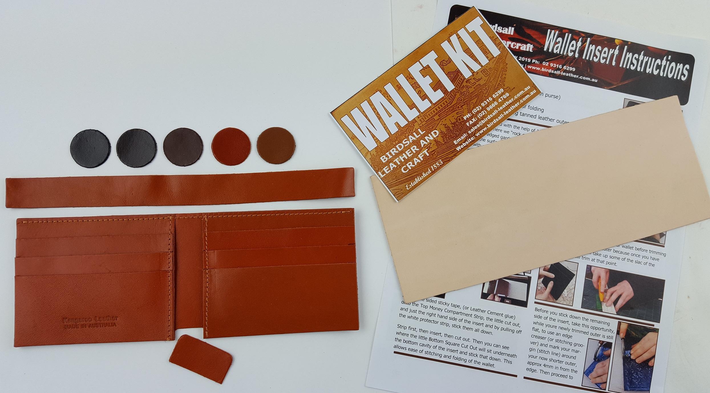 Wallet insert 6 slot cards Kit