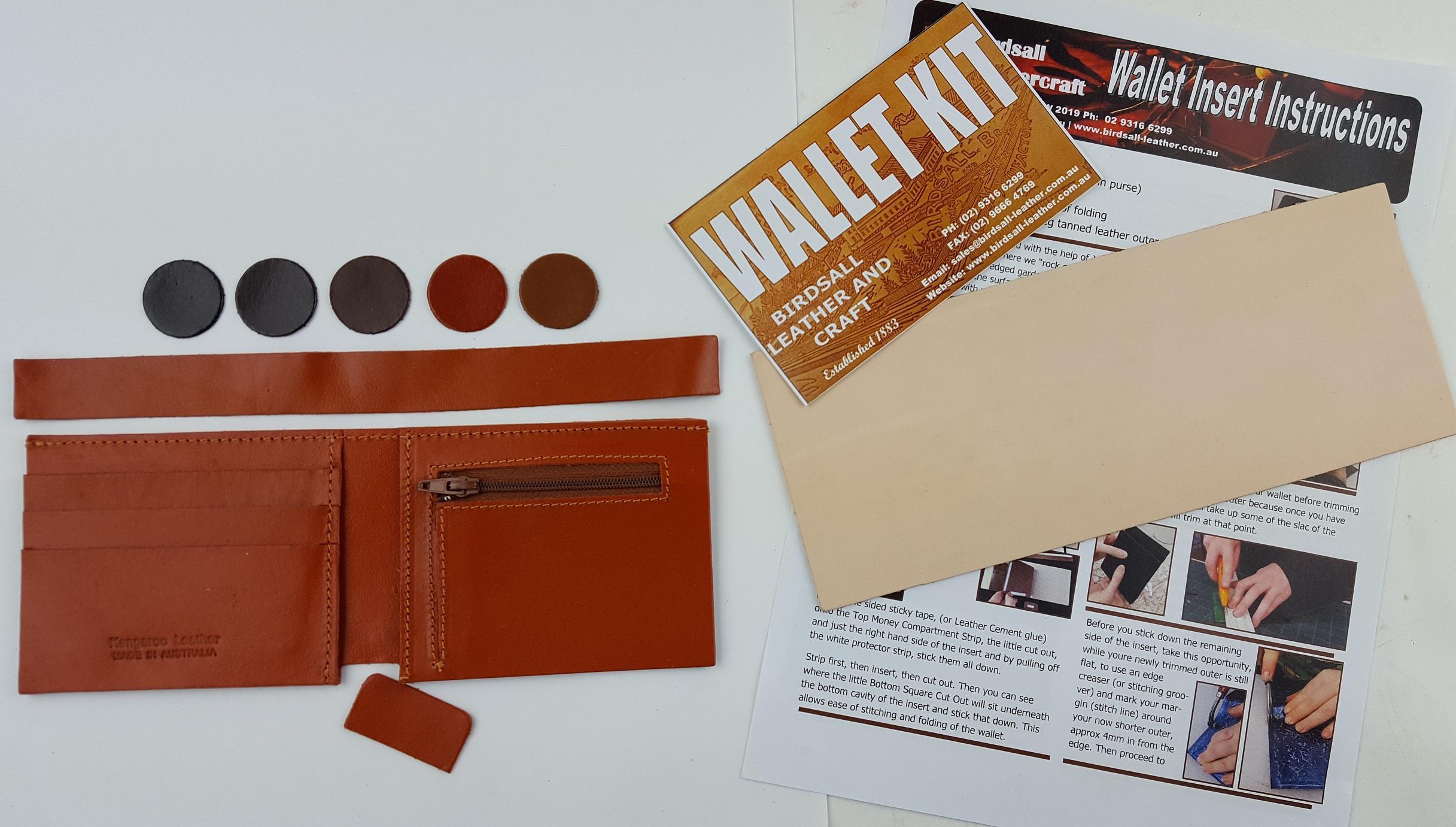 Wallet insert Zip purse Kit