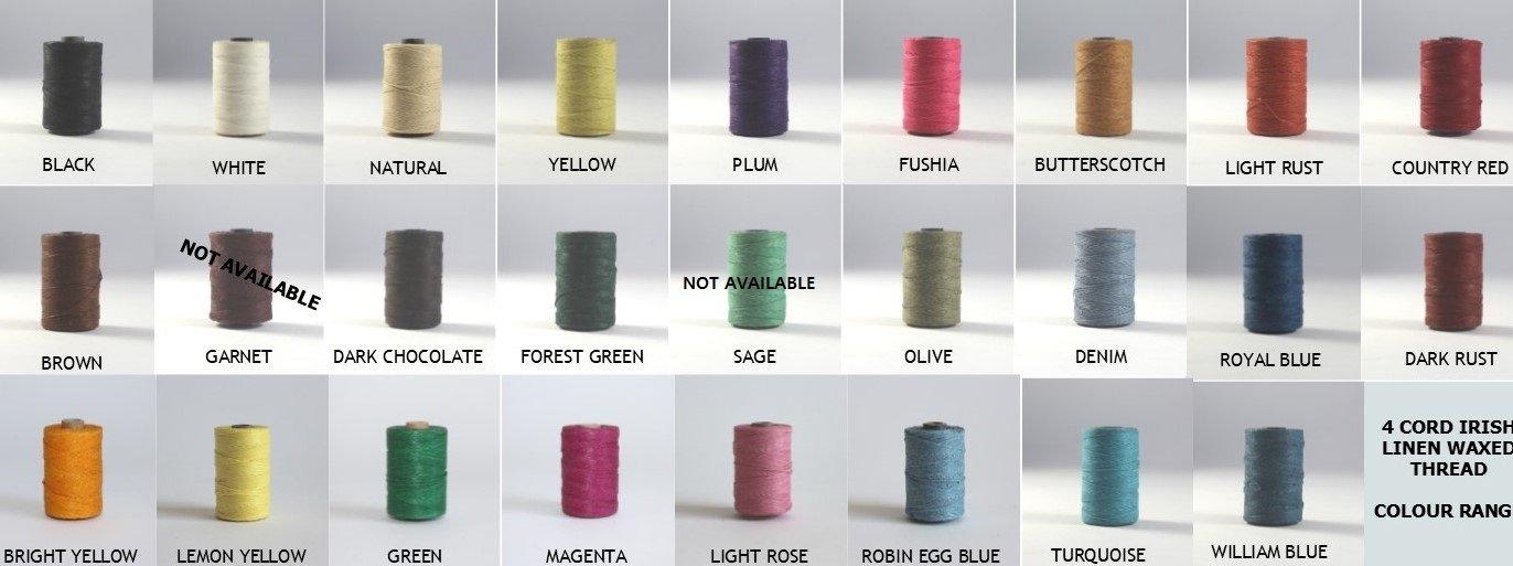 Waxed Linen Thread 100yds 18/4