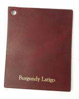Burgundy Latigo sides - Click for more info