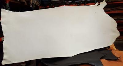 Alum tanned white hide 4mm + - Click for more info