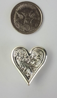 Heart Concho sccrew on 20mm - Click for more info