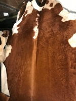 Cowhide hair on ranch rugs - Click for more info