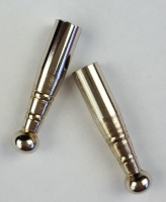 Bolo Tip (2) Silver Plate - Click for more info