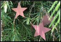 Leather star decoration - Click for more info