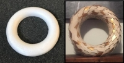 Christmas Foam Wreath (DIY) - Click for more info