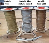 3Mm Metallic Lace 100Mtrs - Click for more info