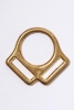 25Mm 2 Loop Square Brass - Click for more info