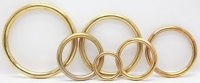 Solid Brass Rings - Click for more info