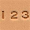 "1/4"" Number set - Click for more info"