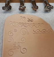 Stamp Set 4pc scrolls - Click for more info