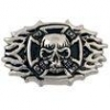 Skull Cross Flame Concho - Click for more info
