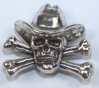 Cowboy Skull & Crossbone conch - Click for more info